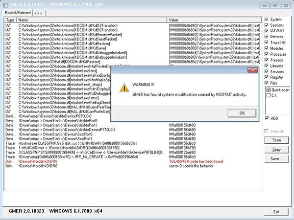 eliminare i Rootkit