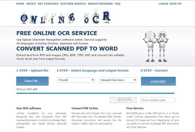 convertire documenti da PDF e JPG in Word 2