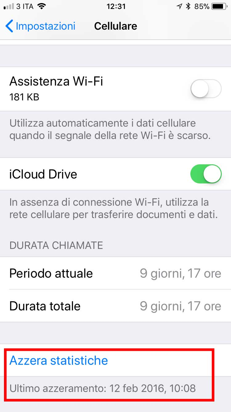 controllo dati iphone