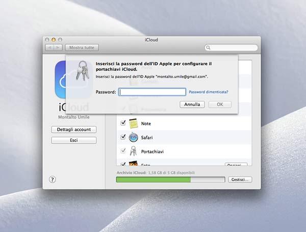 Portachiavi iCloud 4