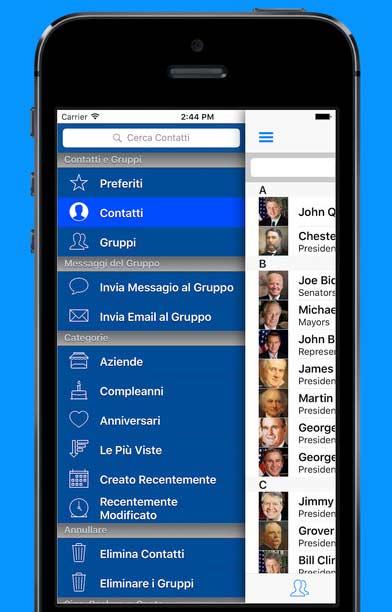gruppi di contatto su iPhone