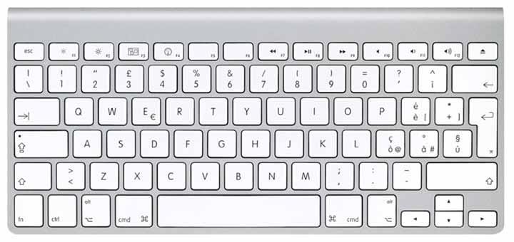 scorciatoie da tastiera