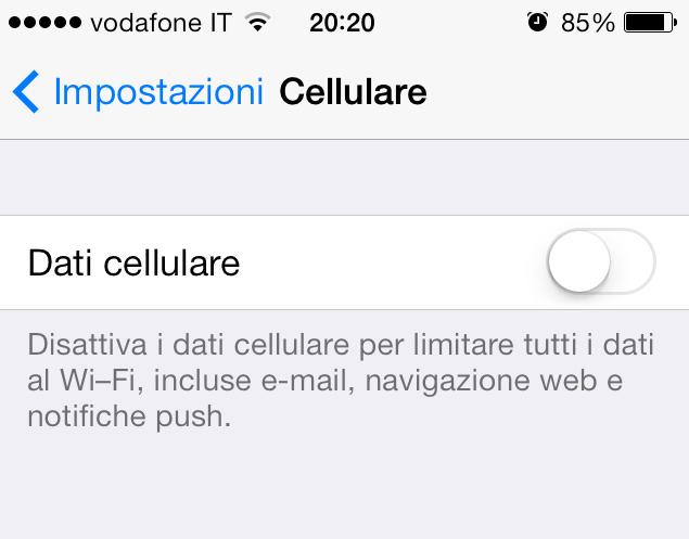 Dati cellulare