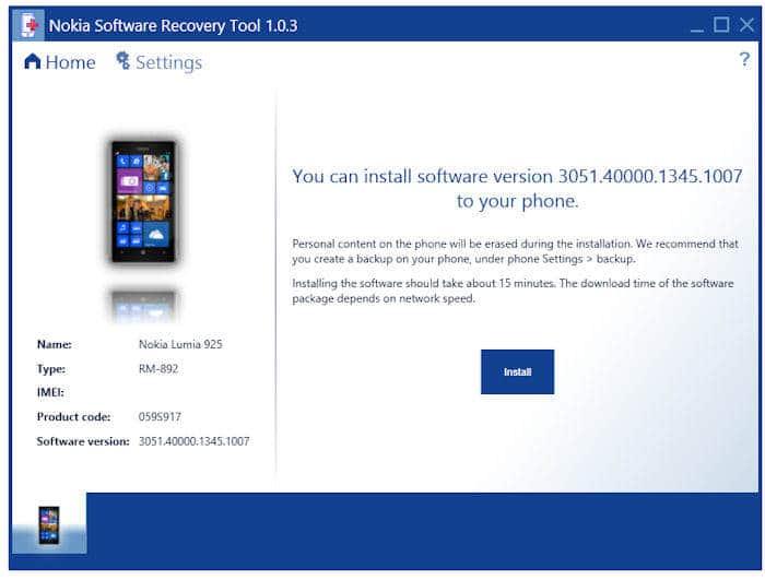 recuperare uno smartphone Nokia 1