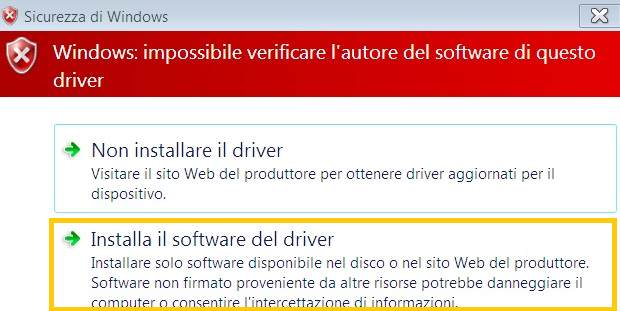 verifica della firma drivers in Windows 8 2