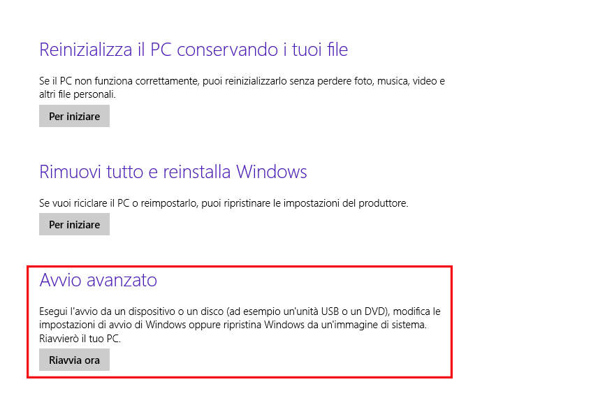 verifica della firma drivers in Windows 8 7