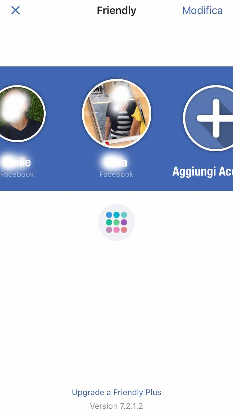 account multipli di Facebook - gestire account