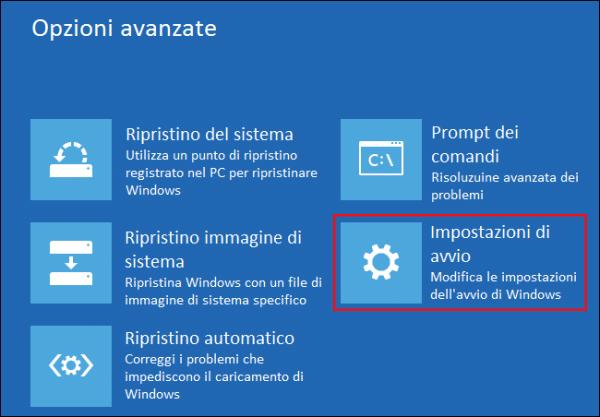 verifica della firma drivers in Windows 8 10
