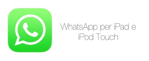 installare WhatsApp su iPad 1