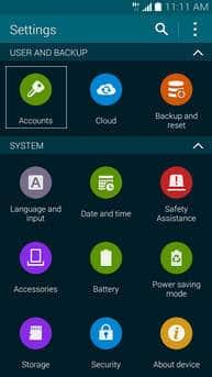 creare account microsoft exchange Galaxy S5 1