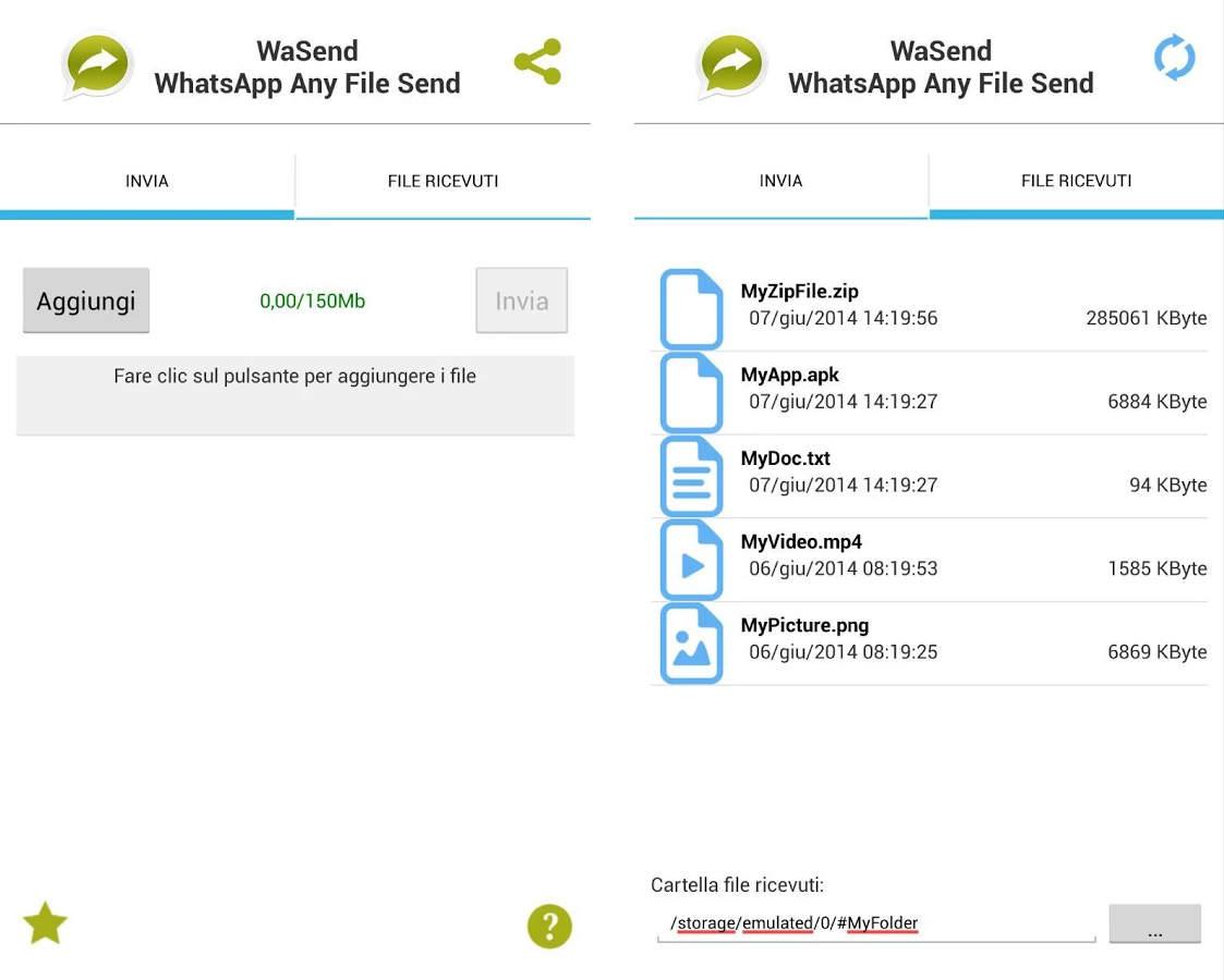 inviare con WhatsApp Android qualsiasi tipo di file 2