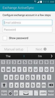 creare account microsoft exchange Galaxy S5 3
