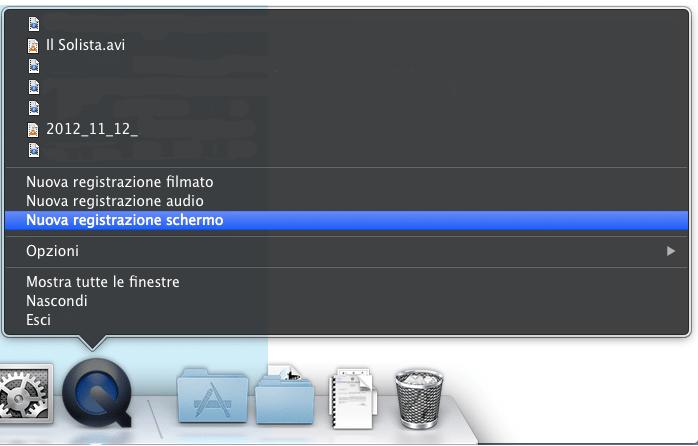 registrare schermo Mac 3