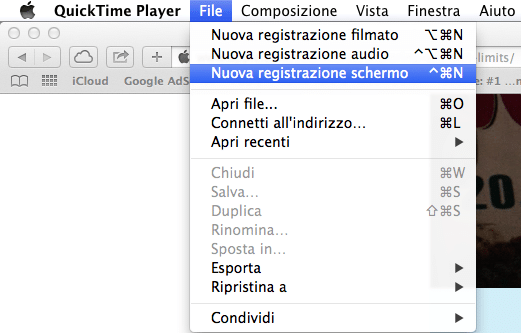 registrare schermo Mac 4