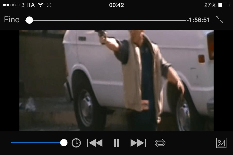 vedere film su iPhone