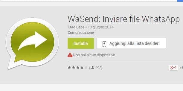 inviare con WhatsApp Android qualsiasi tipo di file 1