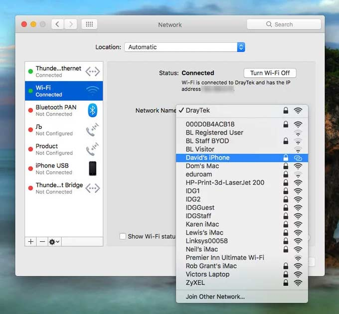 trasformare iPhone in Hotspot WiFi 1