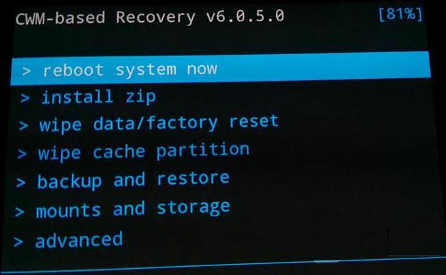 backup e ripristino Android reboot system