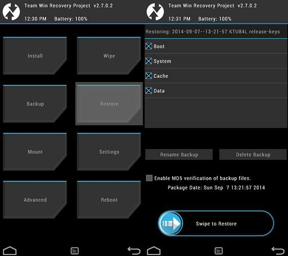 backup e ripristino Android 2