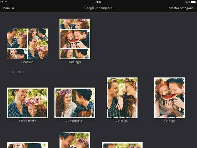migliore editor fotografico per iPad 2