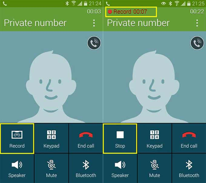 registrazione delle chiamate sul Galaxy S5