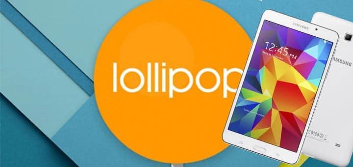 Lollipop 5.0 su Samsung Galaxy Tab 4