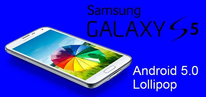 Android Lollipop 5.0 no-brand su Galaxy S5_logo