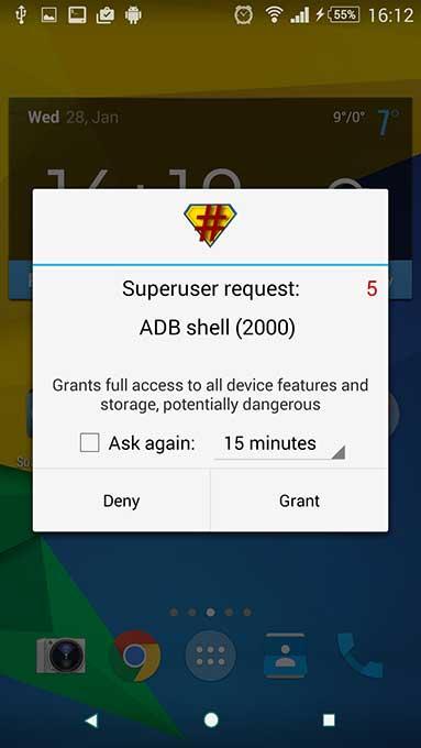 permessi di root suXperia Z3 3