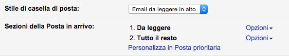 Gmail email non lette