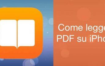 Leggere PDF su iPhone
