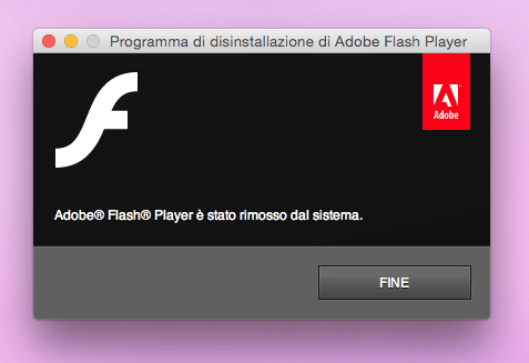 disinstallare flash player su mac 4