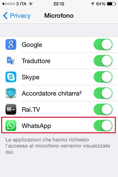 chiamate gratis WhatsApp iPhone 1