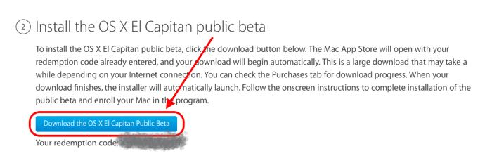 installare OS X El Capitan 10.11 beta pubblica code