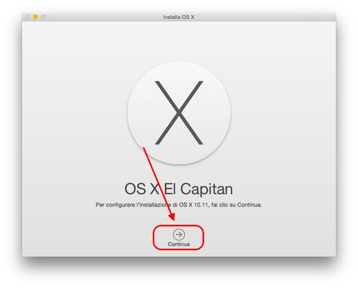 installare OS X El Capitan 10.11 beta pubblica install