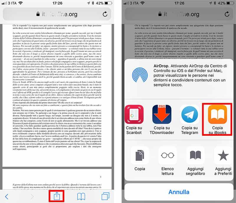 Leggere PDF su iPhone 4