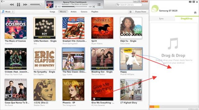 trasferire musica da iTunes a LG G4 3