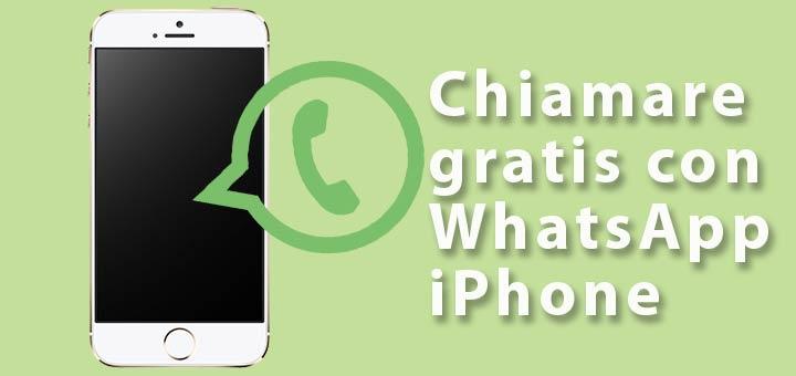 chiamate gratis WhatsApp iPhone logo