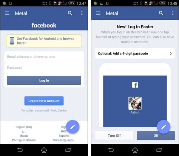 Facebook Android 1
