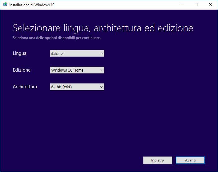 chiavetta avviabile Windows 10 2