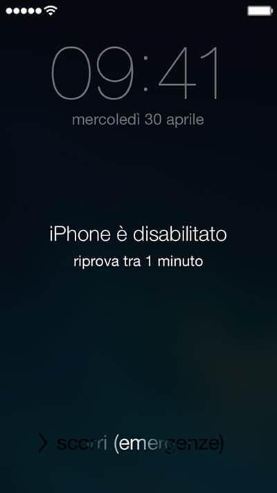 Codice sblocco iPhone e iPad dimenticato