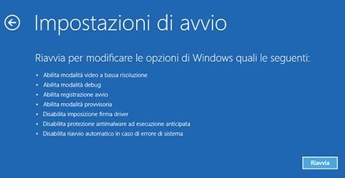 disattivare verificafirma driver Windows 10 5