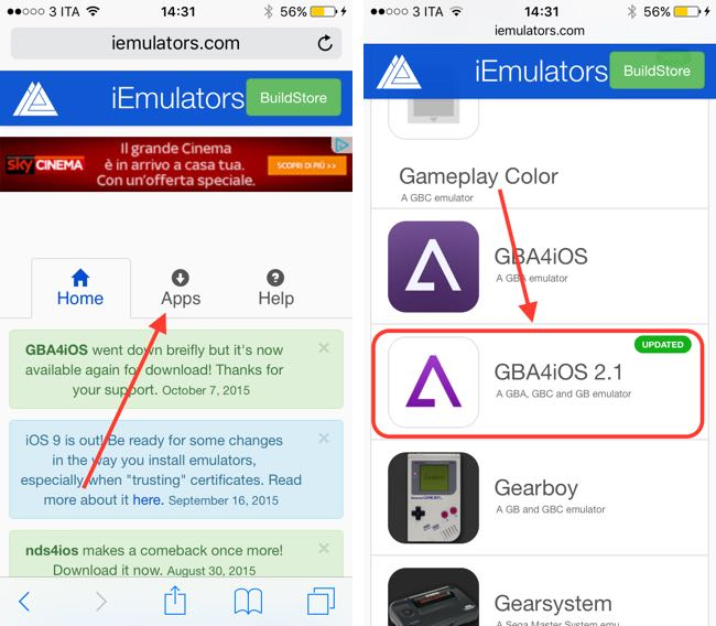 installare emulatore GameBoy su iOS 9 1