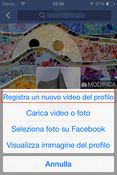 video come profilo Facebook 12