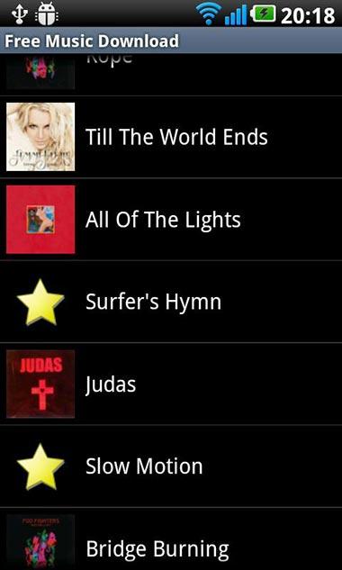 scaricare musica su Android 1