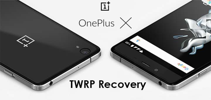 TWRP Recovery su OnePlus X logo