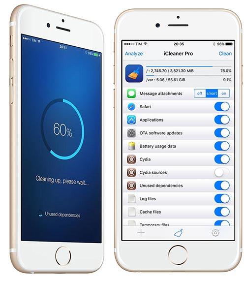 iCleaner Pro iOS 9 2