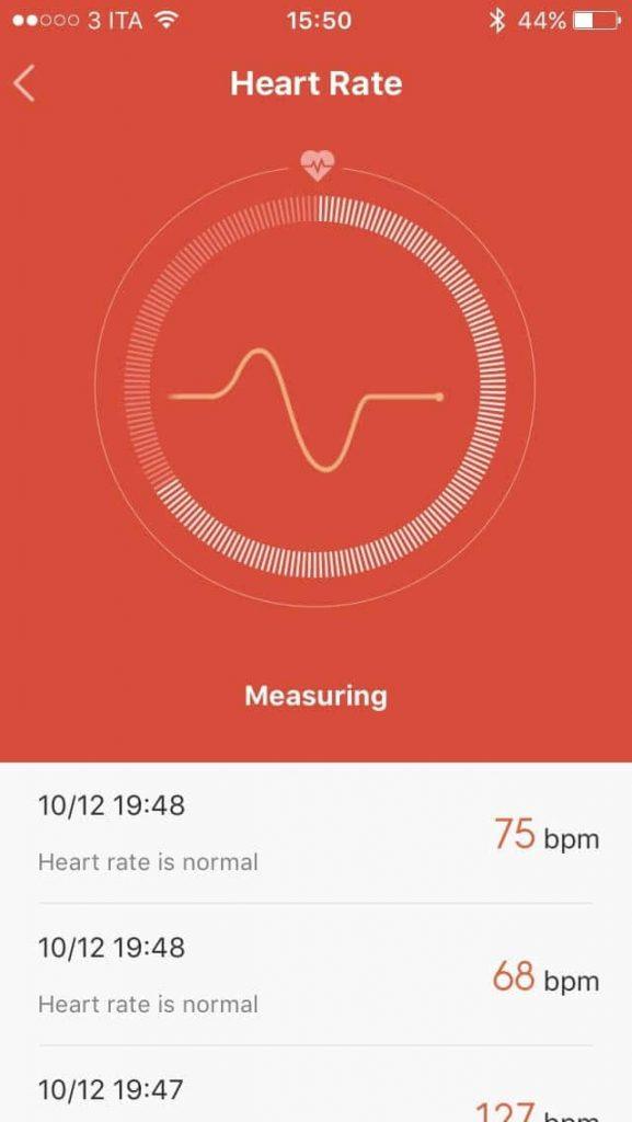 Xiaomi Mi Band 1S - battito 2