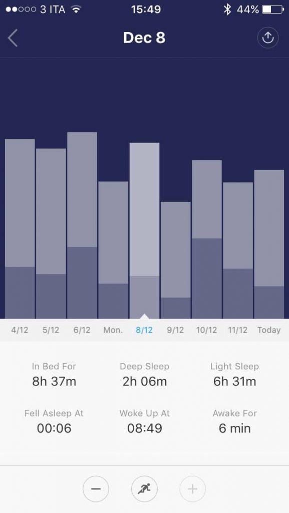 Xiaomi Mi Band 1S - sonno