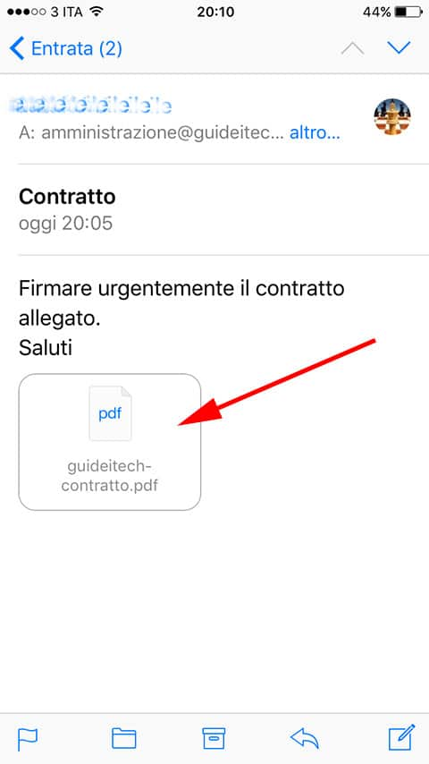 firmare documenti su iPhone 2