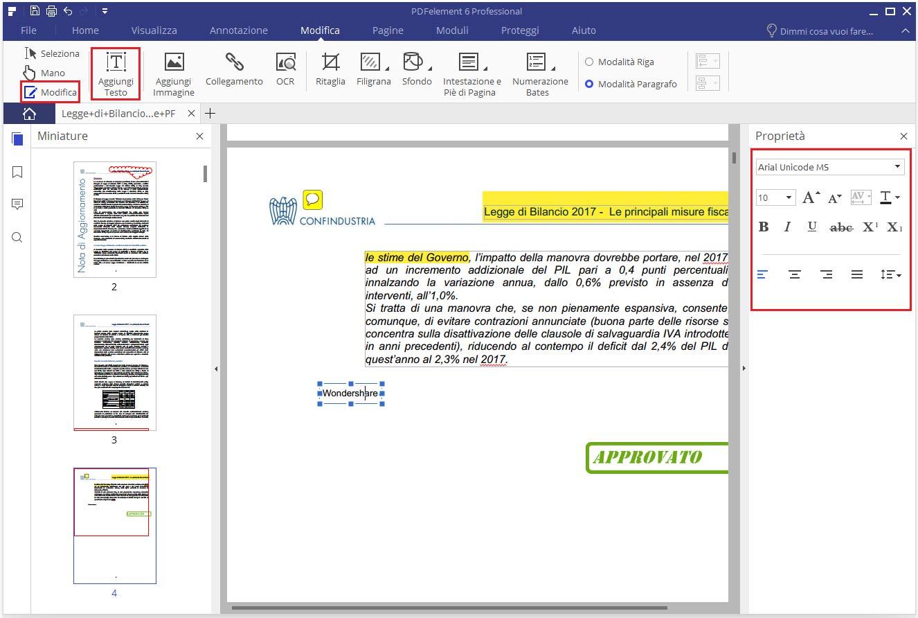 modificare i PDF 3